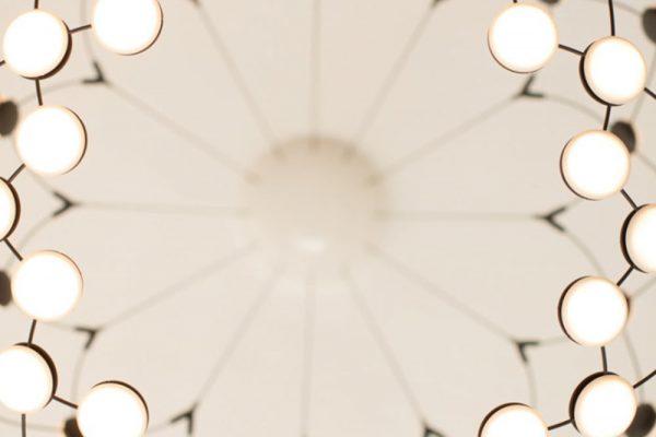Lampen in der Praxis von Dr. Quidenus, Wien