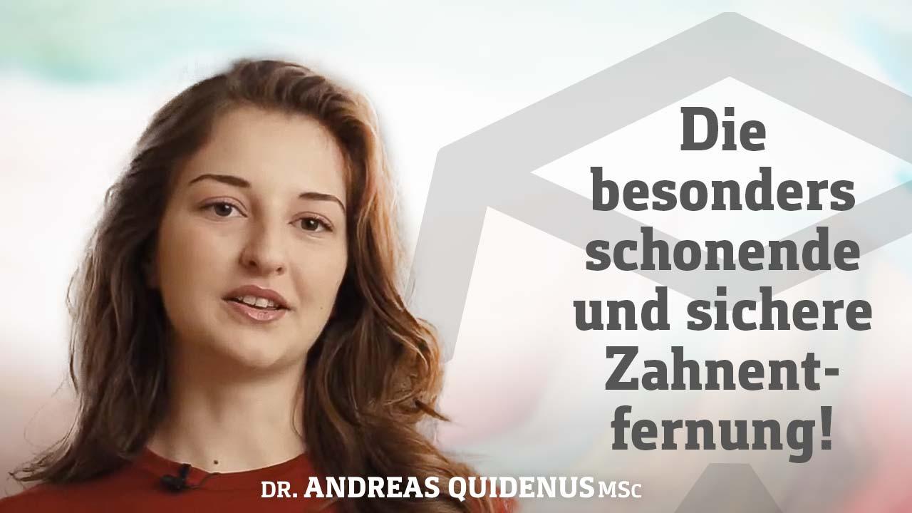 Patientin berichtet über Weisheitszahnentfernung in Wien.