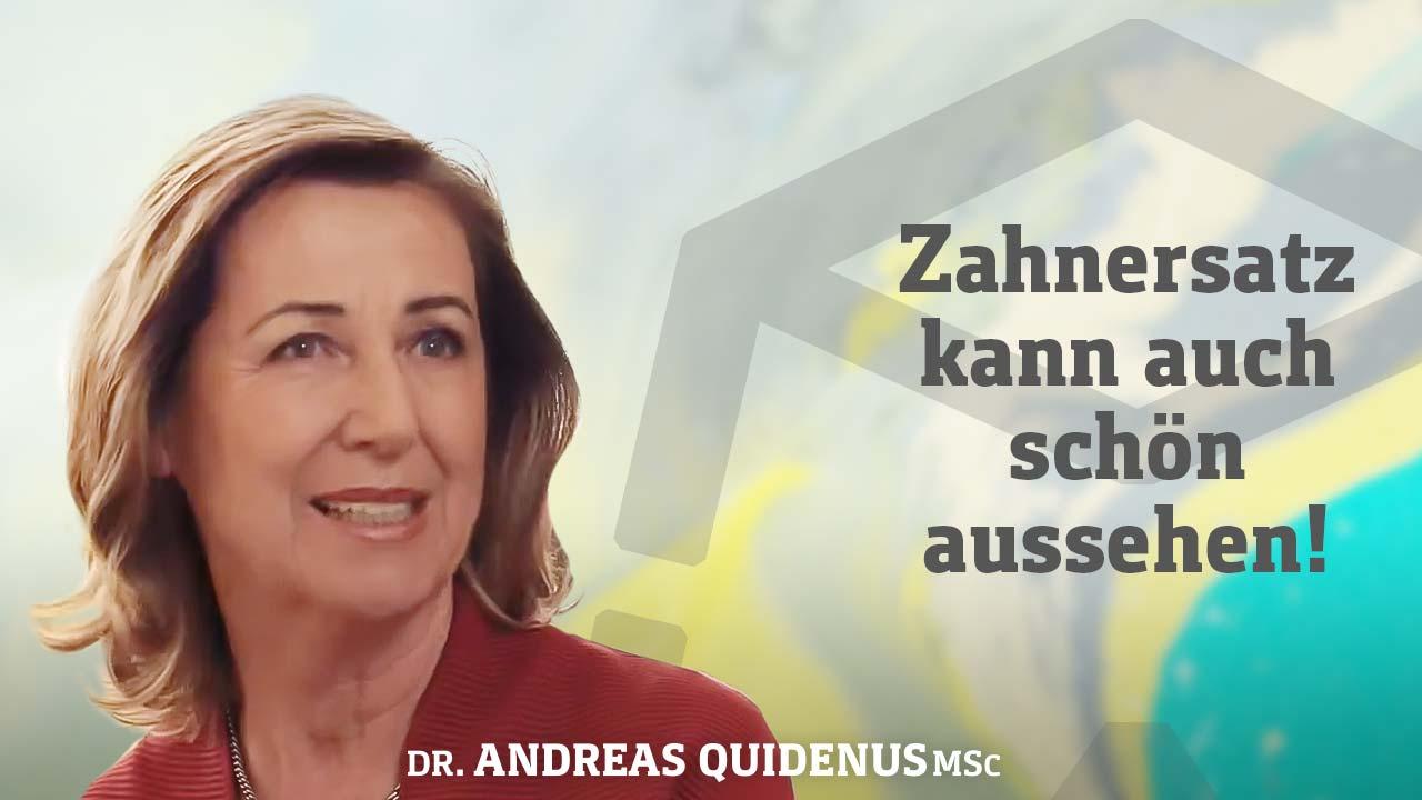 Frau berichtet im Video über Zahnersatz aus Wien